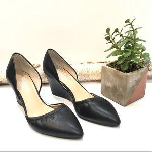 Franco Sarto Fenway Leather Wedge Pump, Black, 5.5